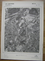 GRAND PHOTO VUE AERIENNE  66 Cm X 48 Cm De 1979  LA LOUVIERE - Mapas Topográficas