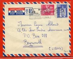 SUISSE LETTRE DE 1962 DE GENEVE POUR BEYROUTH LIBAN - Schweiz
