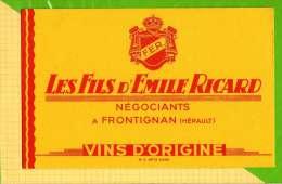 "BUVARD & Blotting Paper : Les Fils D""Emile RICARD  A Frontignan - Schnaps & Bier"