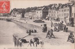 SAINT VALERY EN CAUX   ( 76 )  Quai Et Route Du Havre   ( Port Gratuit ) - Saint Valery En Caux