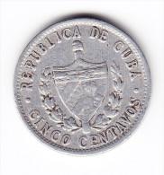1968 Cuba 5 Centavos  Coin - Cuba