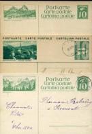 4448 Switzerland,  3 Stationery Card / Entiers / Ganzsachen Postkarten / - Postwaardestukken