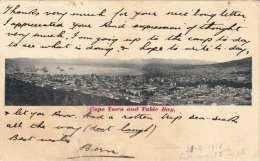 (3 Scans) CAPE TOWN AND TABLE BAY (Südafrika) - Gel.1914, 1d Marke Südafrika, Karte Eingerissen, Klebespuren A.Rückseite - Südafrika