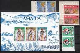 JAMAICA - Lot Marken Mit Block Miss World 1963 ** - Jamaica (1962-...)