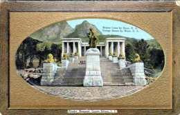 RHODES (Rodesien) - Memorial, Groote Schuur, C.C., Bronze Lions By Swan R.A., 1910?, Ecken Bestossen - Sud Africa