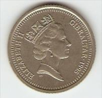 Monnaie - Gibraltar - 10 Pence - Europort - 1995 - Gibraltar