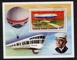 Zeppelins Mauritanie 1976  Scott # C169 Used  NH  Aviation Airships - Zeppelins