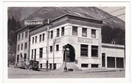 Seward(?) Alaska, Bank Of Seward Building, Hotel Gilder(?), Auto, C1930s/40s Vintage Real Photo Postcard - Altri
