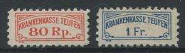 839 - TEUFEN - Fiskalmarken - Fiscaux