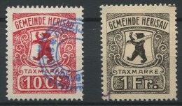 842 - HERISAU - Fiskalmarken - Fiscaux