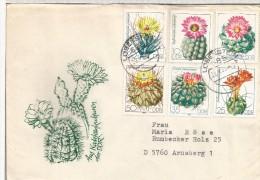 ALEMANIA DDR LOBENSTEIN CC SELLO CACTUS FLORA - Cactus