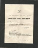 Enveloppe / Avis De Décès De M. Emile NEUMANN Décédé Le Mardi 07 Avril 1936 - Overlijden