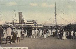 Antilles - West-Indies - Saint Lucia - Sainte Lucie - Arrival Of Troops - Port Bâteau - Sainte-Lucie