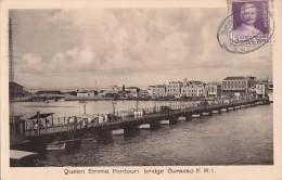 Antilles - Antilles Néerlandaises - Curacao  - Queen Emma Pontoon Bridge - Postmarked Canal Zone Panama Cristobal 1936 - Curaçao
