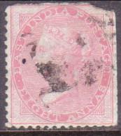 INDIA 1855 SG #36 8a Used No Wmk, Blue Glazed Paper CV £20 Faults - India (...-1947)