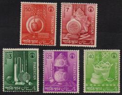 PAKISTAN 1962 - Small Industries, Cricket, Tennis Sports Goods, Handicrafts, Complete Set MNH - Pakistan