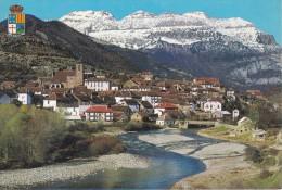 POSTAL DE HECHO DE UNA VISTA GENERAL Y EL RIO ARAGON SUBORDAN (HUESCA) (FOTO PEÑARROYA) - Huesca