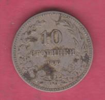 F5369 / - 10 Stotinki - 1913 - Bulgaria Bulgarie Bulgarien Bulgarije - Coins Monnaies Munzen - Bulgarije