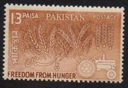PAKISTAN 1963 MNH - Freedon From Hunger Campaign, Agriculture, 13 Paisa Stamp - Pakistan