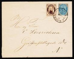 1875-1903. Bi-coloured. 8 Øre Grey/red + FOTO DANMARK POSTFRIM. 4 ØRE. KJØBENHAVN K B 1... (Michel: 25) - JF192721 - 1864-04 (Christian IX)