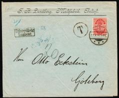 1885. Coat-of Arms. Large Corner Figures. 10 Øre Carmine. Perf. 14x13½ Variety Open Lef... (Michel: 35YAa) - JF192714 - Briefe U. Dokumente