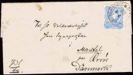 1883. GRAVENSTEIN I. SCHLESWIG 2 6 83 To Marstal Paa Ærrøe, Danmark. Very Unusual Cancel. (Michel: ) - JF192741 - Non Classés