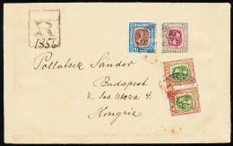 1907. Two Kings. 1 Kr. Blue/brown. Perf. 12 3/4, Wm. Crown + 50 Aur + Pair 25 Aur From ... (Michel: 60) - JF192713 - 1873-1918 Dipendenza Danese