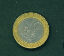 KENYA  -  1997  10s  Circulated Coin - Kenya