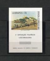 BRASIL 1970 HOJA BLOQUE TERCERA EXPOSICION FILATELICA, PERFECTO ESTADO - Hojas Bloque