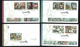 2003  Jean-Paul Riopelle, Painter 6 Regular Stamps And One Souvenir Sheet  Sc 2002a-f, 2003 - Primi Giorni (FDC)