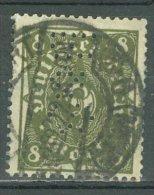 DEUTSCHES REICH 1922-23: Mi 229 W / YT 210 A, PERFIN, O - KOSTENLOSER VERSAND AB 10 EURO - Germania
