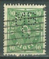 DEUTSCHES REICH 1922-23: Mi 232 / YT 213, PERFIN, O - KOSTENLOSER VERSAND AB 10 EURO - Germania