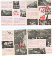 SUISSE / SWITZERLAND - TESSIN VINTAGE  BROCHURE / DEPLIANT - EDIT VELADINI 1950s - Tourism Brochures
