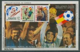 Bolivien 1982 Fußball-WM Spanien Block 128 Postfrisch (C22866) - Bolivien
