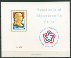 Chile 1976 200 Jahre USA 857 Gedenkblatt Postfrisch O.G. (C22806) - Chile