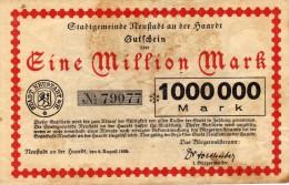 Eine Million Mark - N° 79077 - Stadt Neustadt A/H - [ 3] 1918-1933 : Weimar Republic