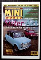 Mini World  Postcard, October 1997  Magazine - Voitures De Tourisme