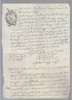E479-1809 Carta Bollata FOGGIA-bollo G.4 Con GIGLI E CORONA Sopra Vecchio BOLLO G.6 - Manuskripte