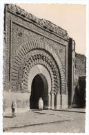 Maroc--MARRAKECH-1955--Bab Aguenaou (petite Animation) Cpsm 9 X 14  N°31 éd CAP--Beau Cachet Marrakech Gueliz + Timbre - Marrakech