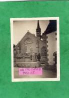 Photographie Originale Animée Penmarch Saint-Guénolé (29-Finistère) église St-Nonna 11,1 Cm X 8,7 Cm - Lieux
