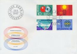 Switzerland 1967 FDC Swiss Week - Foundation For The Aged - St. Bernardino Tunnel - Railroad Transportations - FDC