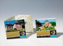 """Luxembourg 2011 : 5€ En Argent Et Niobium """"Château De Mersch""""  - Disponible En France - Luxembourg"""