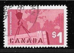 CANADA , 1963,USED, # 411, CANADIAN EXPORTS: CRANE & MAP - 1952-.... Règne D'Elizabeth II