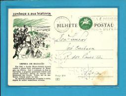 CONHEÇA A SUA HISTÓRIA - N.º 47 - Defesa De Mazagão - Carimbo: Coimbra - INTEIRO POSTAL STATIONERY - Enteros Postales