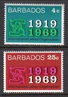 BARBADOS - 1969 ILO LABOUR SET (2V) FINE MNH ** SG390-391 - Factories & Industries
