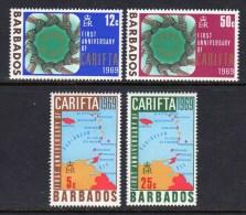 BARBADOS - 1969 CARIFTA SET (4V) FINE MNH ** SG386-389 - Barbados (1966-...)