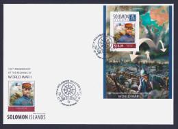 "2014 SOLOMON ISLANDS ""CENTENARY OF WORLD WAR I"" FDC - Isole Salomone (1978-...)"