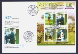 "2015 SOLOMON ISLANDS ""CENTENARY OF WORLD WAR I - BRITISH WOMEN'S INSTITUTE"" FDC - Isole Salomone (1978-...)"