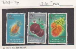 Indonesia  Scott # B135-B137 Complete Set Of 3 Mint. Hinge  Fruit - Indonesia