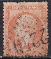 France 1862 Napoleon III Empire Franc. Papier Teinté 40 Centimes Orange Dentelé Y & T  Nr. 23 - 1862 Napoleon III